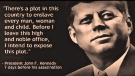 Kennedy denouncing enslavement plan