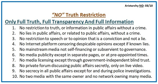 No Truth Restriction