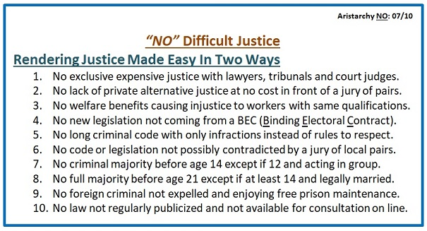 No Difficult Justice