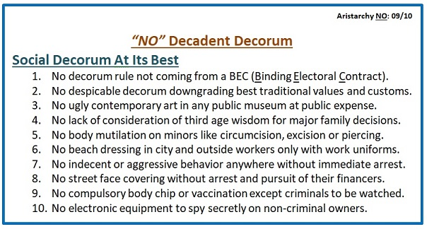 No Decadent Decorum